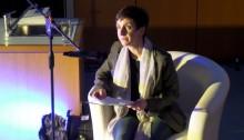 Yvonne Schönlein bei der Abschlussveranstaltung in Mittweida